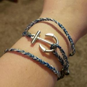 Pura Vida Anchor Wrap Bracelet